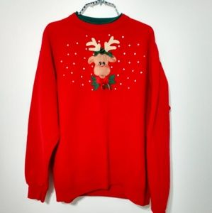 Vintage Rudolph Ugly Christmas sweater size L